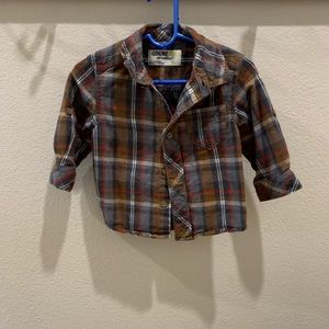 Oshkosh Flannel button up Boys shirt